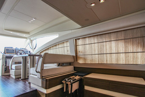 54' Azimut Flybridge 2014 Salon to Lower Helm View
