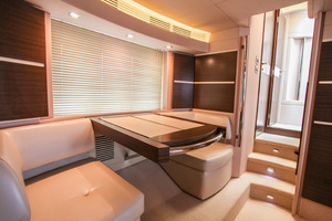 54' Azimut Flybridge 2014 Owners Suite with View to Hall