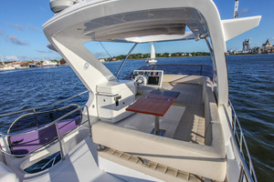 54' Azimut Flybridge 2014 Flybridge from Tanning Deck