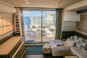 54' Azimut Flybridge 2014 Salon to Aft Deck View