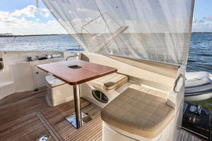 54' Azimut Flybridge 2014 Aft Deck with Suncover
