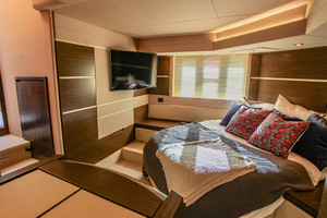 54' Azimut Flybridge 2014 Main Stateroom to Stbd View