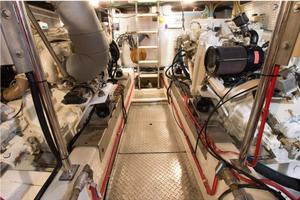 54' Offshore Yachts Pilothouse 2001 Engine Room Forward