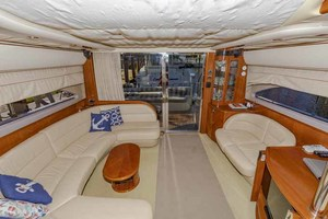 61' Viking Sport Cruiser 2003 Salon Looking Aft Salon
