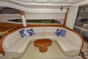 61' Viking Sport Cruiser 2003 Starboard Salon Sofa