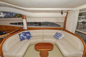 61' Viking Sport Cruiser 2003 Starboard Salon Sofa