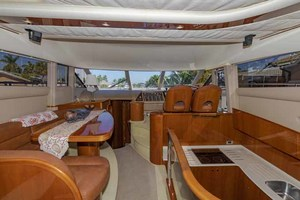 61' Viking Sport Cruiser 2003 Galley to Starboard