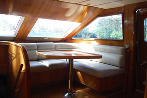 82' Hargrave Flybridge Motor Yacht 2001 Galley Dinette to Starboard
