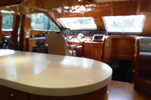 82' Hargrave Flybridge Motor Yacht 2001 Galley Looking Forward