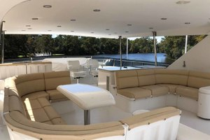 82' Hargrave Flybridge Motor Yacht 2001 Flybridge Looking Forward
