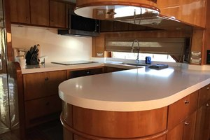 82' Hargrave Flybridge Motor Yacht 2001 Galley to Port