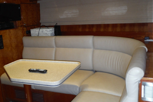 82' Hargrave Flybridge Motor Yacht 2001 Forward Area Lounge