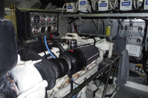 82' Hargrave Flybridge Motor Yacht 2001 Port Engine