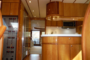 82' Hargrave Flybridge Motor Yacht 2001 Galley Looking Aft