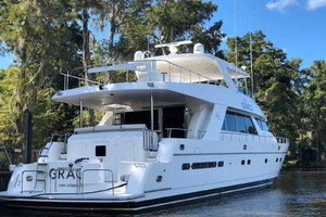 82' Hargrave Flybridge Motor Yacht 2001 Stern