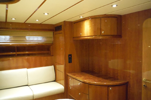 82' Hargrave Flybridge Motor Yacht 2001 Master Cabin Looking to Port