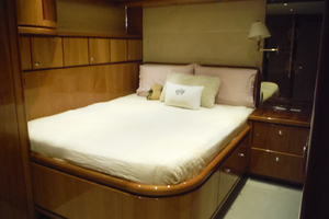 82' Hargrave Flybridge Motor Yacht 2001 Port Side Double Cabin Looking Forward