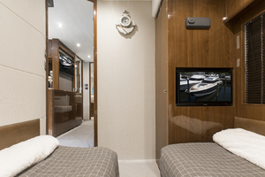 62' Princess V62-S 2015 TV in the guest stateroom