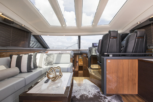 62' Princess V62-S 2015 Upper salon/helm