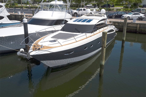 62' Princess V62-s 2015 Port bow profile