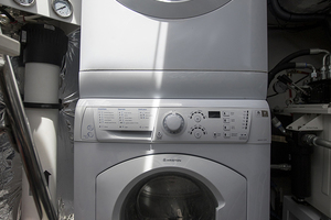 62' Princess V62-S 2015 Washer/dryer units in lazarette