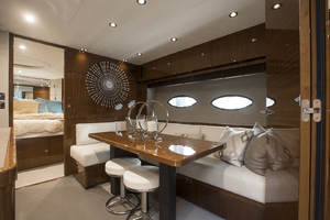 62' Princess V62-S 2015 Lower salon/dinette