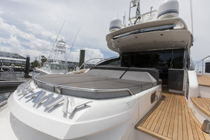 62' Princess V62-s 2015 Aft deck sun pad area