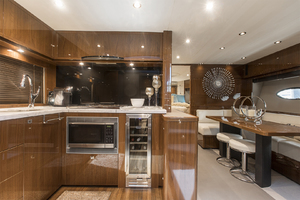 62' Princess V62-S 2015 Galley/lower salon