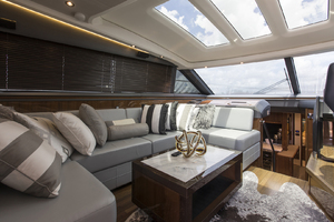 62' Princess V62-S 2015 Port upper salon view 2