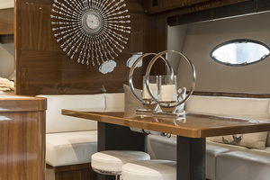 62' Princess V62-s 2015 Lower salon/dinette view 2