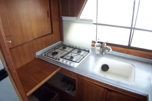44' Island Gypsy Aft Cabin Motoryacht 1997 Galley Propane Stove