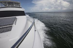 60' Hatteras 60 Motor Yacht 2013 Port side deck
