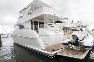 60' Hatteras 60 Motor Yacht 2013 Port quarter profile 2