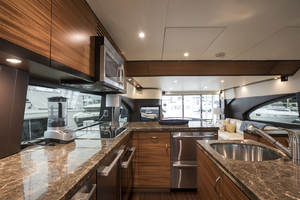 60' Hatteras 60 Motor Yacht 2013 Galley looking aft