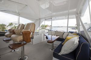 60' Hatteras 60 Motor Yacht 2013 Flybridge looking aft