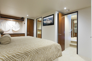 60' Hatteras 60 Motor Yacht 2013 TV in the master stateroom