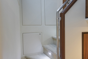 60' Hatteras 60 Motor Yacht 2013 Steps leading to the staterooms