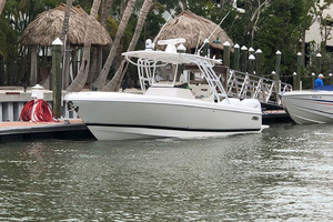 32' Intrepid 327 Center Console 2016 Port bow profile