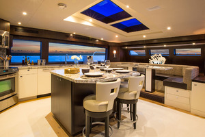 105' Hatteras Raised Pilothouse 2020 Galley