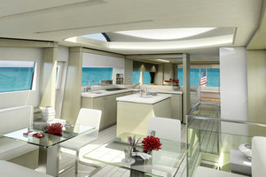 75' Hatteras M75 Panacera 2020 Salon and Galley
