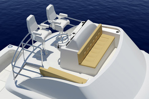 45' Hatteras 45 Express No Tower 2019 Manu. Rendering