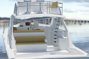 45' Hatteras 45 Express No Tower 2019 Profile Rendering