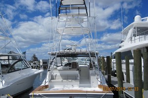 45' Hatteras 45 Express With Tower 2019 Stern View