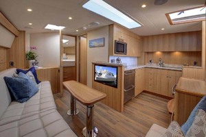 45' Hatteras 45 Express With Tower 2019 Salon and Galley