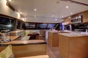 60' Hatteras M60 2019 Salon and Galley