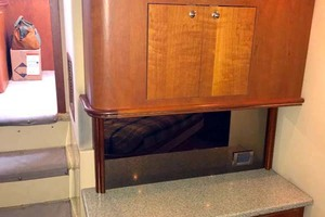 44' Cruisers Yachts 4450 2002 Master Stateroom Multi-Use Cabinet with Corian Counter