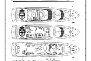 110' Horizon Tri-deck Motoryacht 2007 LAYOUT
