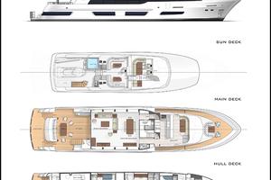 110' Crescent 110 Fast Pilothouse Yacht 2020 LAYOUT