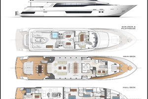 117' Crescent Custom Fast Pilothouse Yacht 2019 LAYOUT
