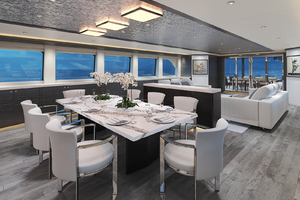 117' Crescent Custom Fast Pilothouse Yacht 2019 DINING